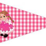Bandeirinha Sanduiche 4 Festa Junina Rosa