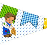 Bandeirinha Sanduiche 5 Festa Junina Azul