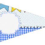Bandeirinha Sanduiche 6 Festa Junina Azul