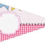 Bandeirinha Sanduiche 6 Festa Junina Rosa