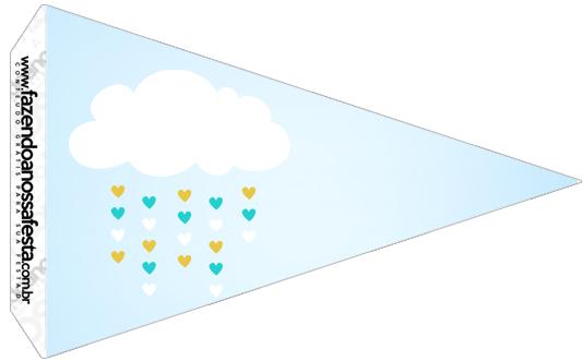 Bandeirinha Sanduiche 8 Kit Festa Chuva de Benção
