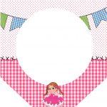 Bandeirinha Sanduiche Festa Junina Rosa