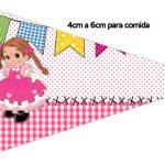 Bandeirinha Sanduiche Festa Junina Rosa 2