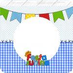 Bandeirinha Varalzinho Quadrada Festa Junina Azul