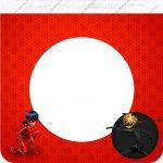 Bandeirinha Varalzinho Quadrada Miraculous Ladybug