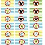 Bandeirinhas Sanduíche Personalizados Mickey e sua Turma
