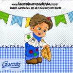 Baton Garoto Festa Junina Azul