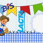 Bis Duplo Festa Junina Azul