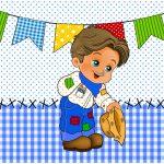 Bolinha de Sabão Festa Junina Azul