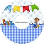 CD DVD Festa Junina Azul