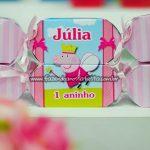 Caixa Bala Festa Peppa Pig Princesa da Julia