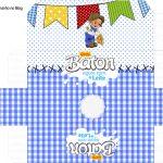 Caixa Baton Kit Festa Junina Azul