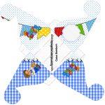 Caixa Bombom 2 Festa Junina Azul
