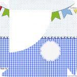 Caixa Bombom Festa Junina Azul