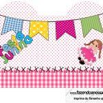 Caixa Coracao Festa Junina Rosa