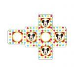 Caixa Cubo Mickey e sua Turma