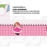 Caixa Cubo ou Bis Festa Junina Rosa