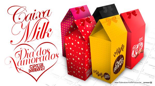 Caixa de Leite para Dia dos Namorados