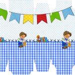 Caixa Sabonete Festa Junina Azul