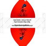 Caixa Vestido Miraculous Ladybug