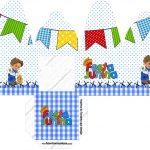 Caixa com Foto Festa Junina Azul