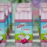 Caixa de Leite Festa Peppa Pig da Julia