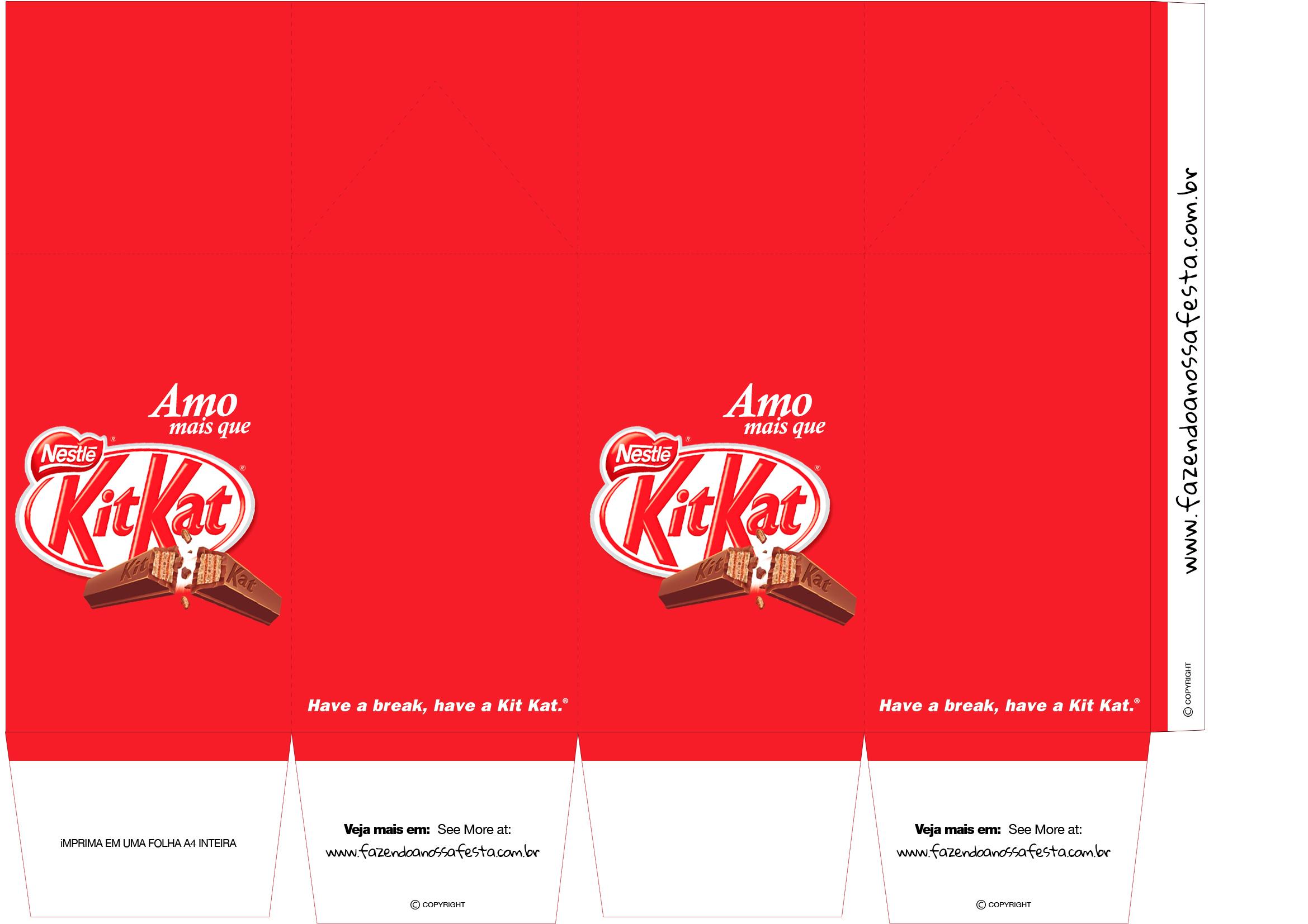 Caixa de Leite para Dia dos Namorados Kit Kat