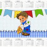 Calendário 2016 Kit Festa Junina Azul