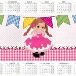 Calendario 2016 Festa Junina Rosa