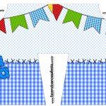 Camisa Festa Junina Azul