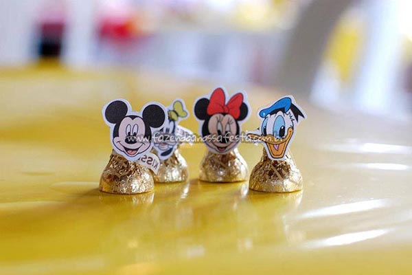 Carinhas Festa Mickey e sua Turma