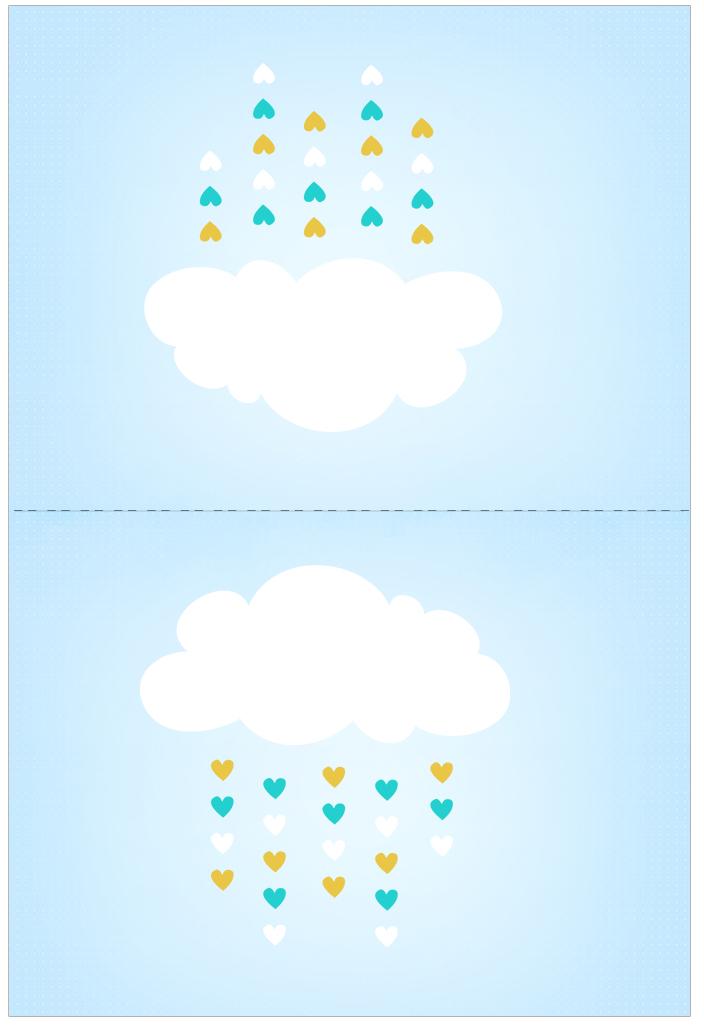 Cartao Agradecimento de Mesa Chuva de Bencao
