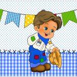 Cartao Festa Junina Azul