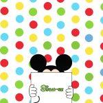Cartão Sirva-se Mickey e sua Turma