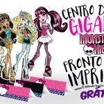 Centro de Mesa Monster High Grátis para Imprimir