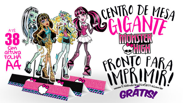Centro de Mesa Monster High Modelo