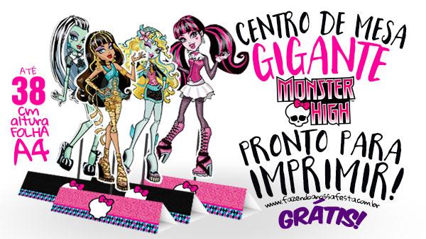 Centro de Mesa Monster High Modelo