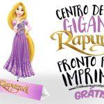 Centro de Mesa Rapunzel para Imprimir em Montar