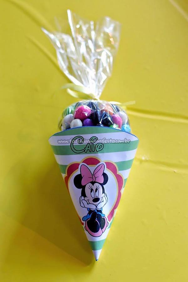 Cone Guloseimas Festa Mickey e sua Turma