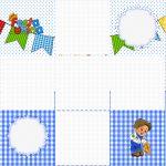 Convite Caixa Fundo Festa Junina Azul