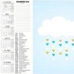 Convite Calendario 2016 Chuva de Bencao