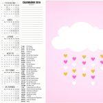Convite Calendario 2016 Chuva de Bencao Meninas