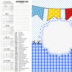Convite Calendario 2016 Festa Junina Azul