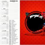 Convite Calendário 2016 Miraculous Ladybug