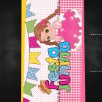 Convite Chalkboard Festa Junina Rosa