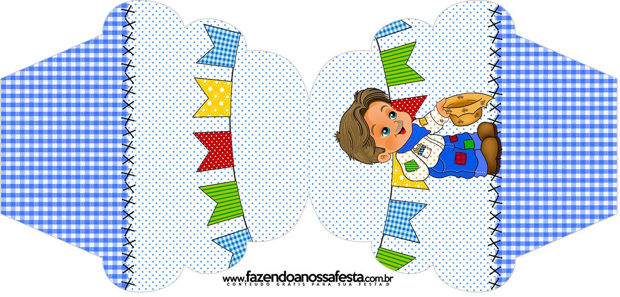 Armario Nancy Famosa ~ Convite Cupcake Festa Junina Azul Fazendo a Nossa Festa