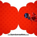 Convite Cupcake Kit Festa Miraculous Ladybug