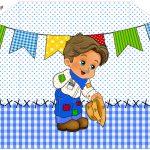 Convite Envelope Festa Junina Azul