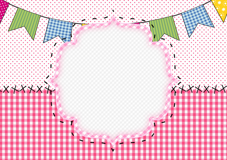 Convite Festa Junina Bandeirinhas Fazendo A Nossa Festa