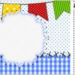 Convite Ingresso Festa Junina Azul